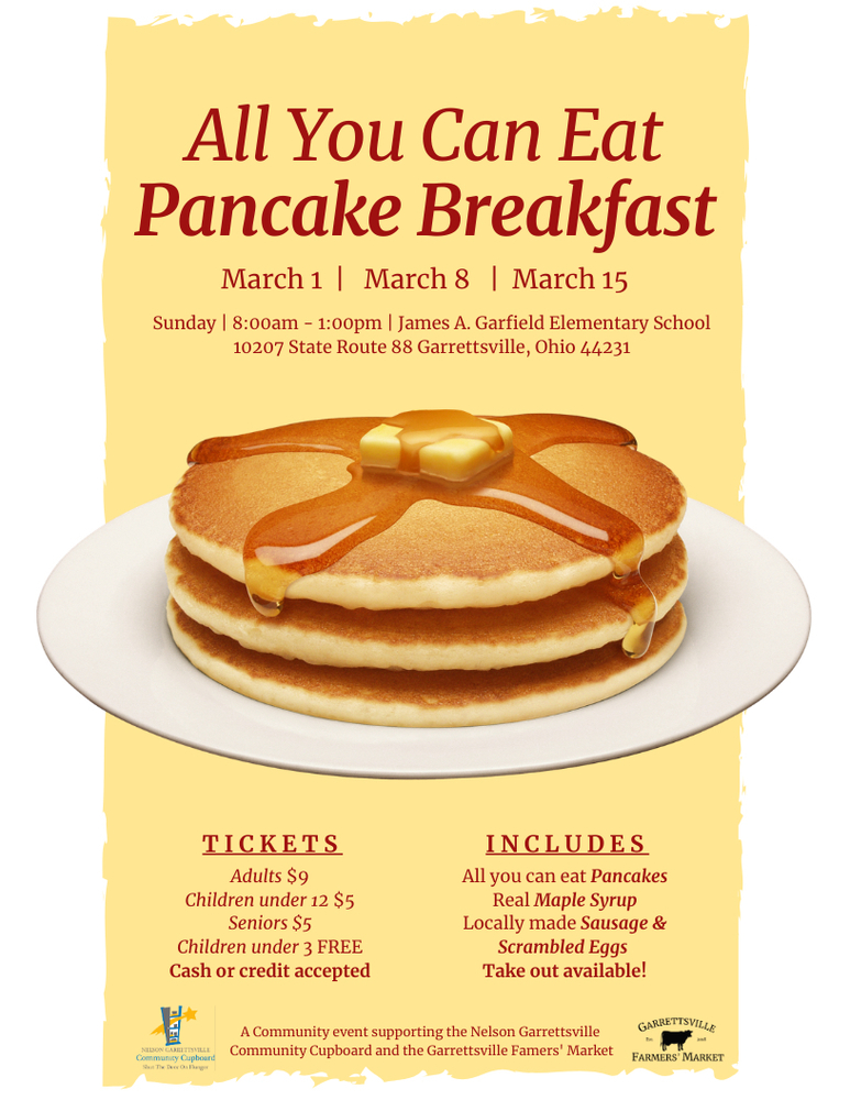 Garrettsville Farmers' Market and NGCC Annual Pancake Breakfasts