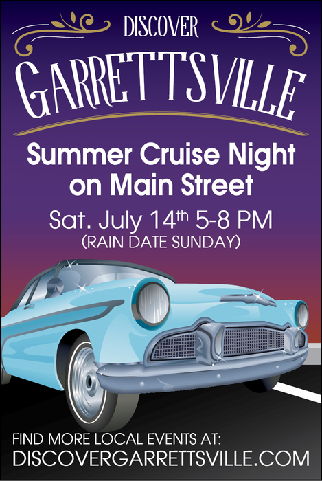 Car Cruise Night in Downtown Garrettsville Ohio