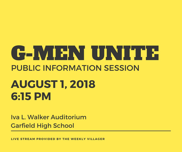 Event invitation for G-Men Unite Tax Issue public info session