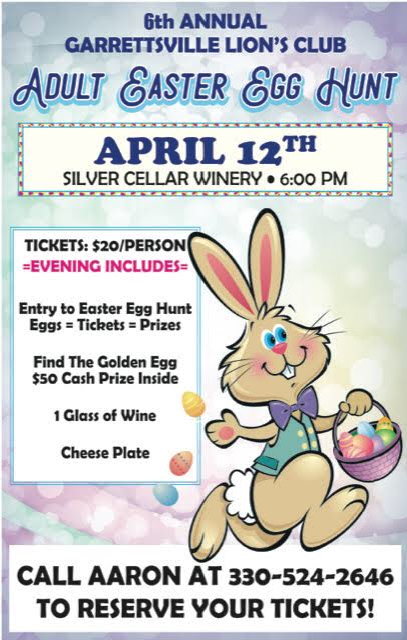 Adult Easter Egg Hunt Flyer