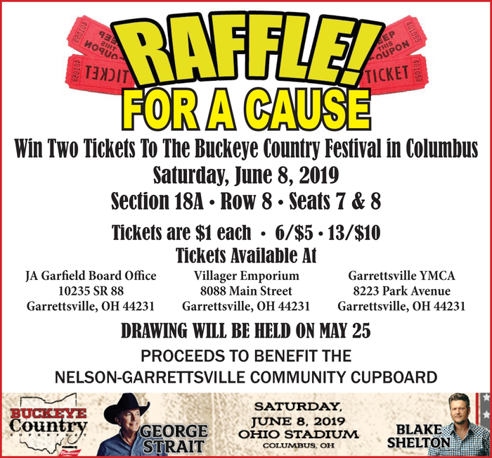 Purchase raffle tickets for your chance to win a pair of tickets to the Buckeye Country Fest in Columbus.