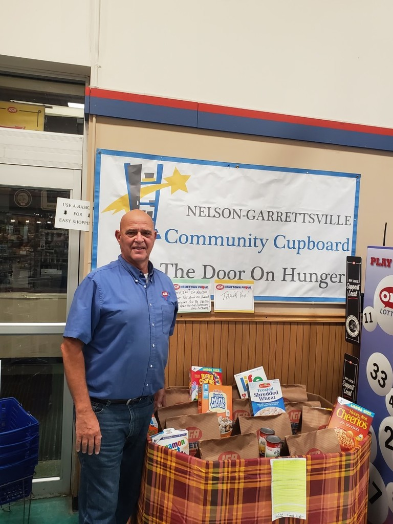 "Nelson-Garrettsville Food Cupboard & Sky Plaza IGA ""SHUT THE DOOR ON HUNGER"" Promotion"