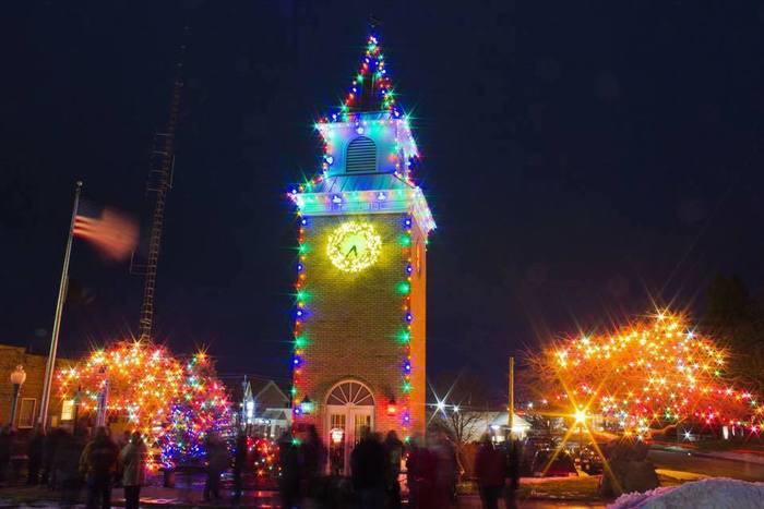 Garrettsville's annual clocktower lighting.