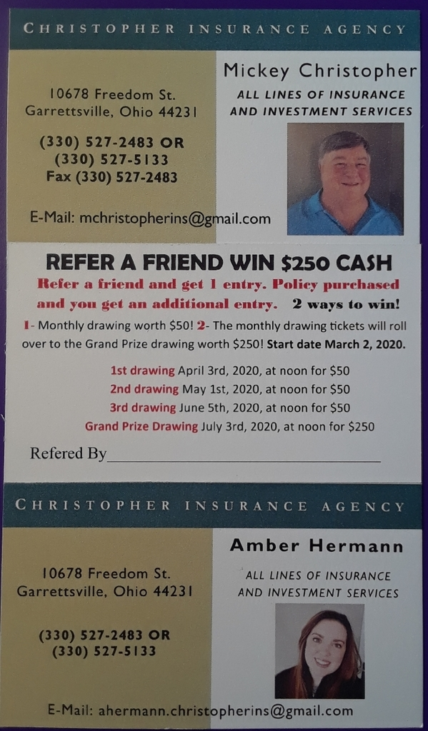 Refer a friend drawing!