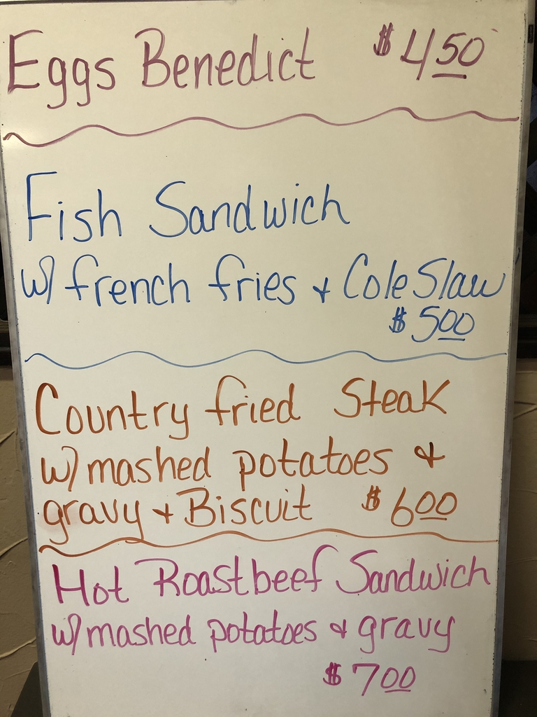 Today's specials at Millers